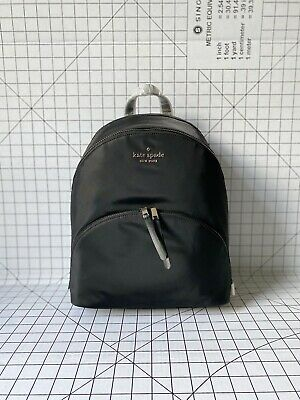 $ CDN141.43 • Buy NWT Kate Spade New York WKRU6585 Large Nylon Backpack Book Bag Black