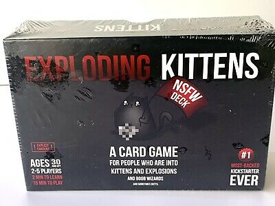AU15.65 • Buy New - Exploding Kittens Card Game NSFW Edition Deck