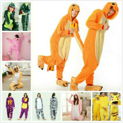 2020 Unisex Adult Pajamas Halloween Kigurumi Costume Animal Hoodies Sleepwear • 15.99£