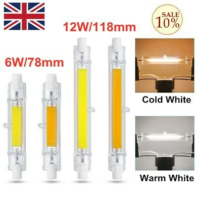Dimmable R7s COB LED Light 6//12W 78mm//118mm Security Flood Replaces Halogen Bulb