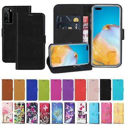 Luxury PU Leather Wallet Flip Case Cover For Huawei P30 P40 Lite Y6 P Smart 2019 • 3.49£
