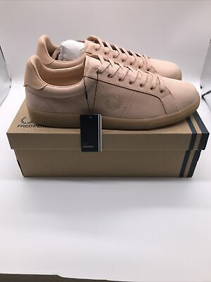 Fred Perry Mens B721 Microfibre Natural Tan Logo Trainers Shoes UK 11 EU 46 New • 42.99£