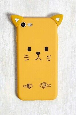 £3.99 • Buy Urban Outfitters Silicone Yellow Cat With Ears IPhone 6/6s/7/8 Case IPhone