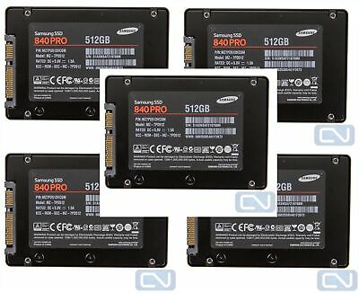 $ CDN392.73 • Buy Lot Of 5 2.5  512Gb SATA 6Gb/s SSD Samsung Pro 840 MZ-7PD512 MZ7PD512HCGM