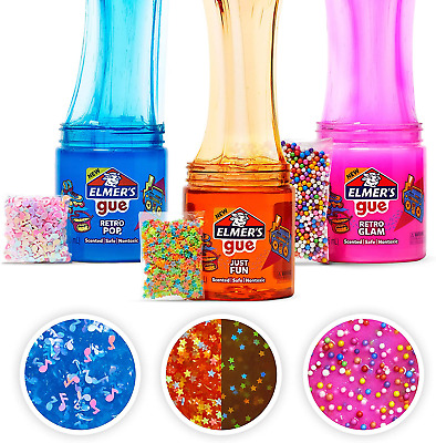 AU30.72 • Buy Elmers Gue Premade Slime Retro Slime Kit Includes Add Ins Variety Pack 3 Count