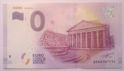 0 Euro ~ Roma Pantheon ~ Italy ~ 2017 ~ Uncirculated ~ Mint Condition • 10£