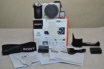 $ CDN528.45 • Buy Sony Alpha A6000 24.3MP (Silver) Body Only+ Extras_ Only 237 Clicks_ MINT Cond