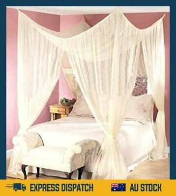 AU101.99 • Buy  4 Poster Bed Canopy Mosquito Net Queen King Size