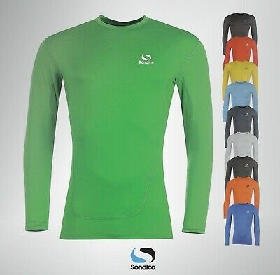 Boys Girls Sondico Long Sleeved Base Layer Top Sizes Age From 3 To 13 Yrs • 17.99£