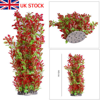 Large Artificial Water Aquatic Rose Green Color Plant Aquarium Fish Tank Decor • 6.99£