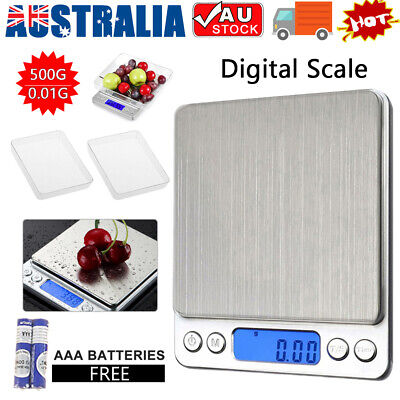 AU14.85 • Buy 0.01-500g Jewellery Kitchen Food Scale Digital LCD Electronic Balance Scales
