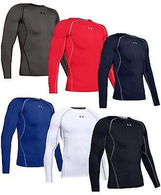 Under Armour Mens Heatgear Compression Long Sleeve Shirt Winter Baselayer Top • 24.99£