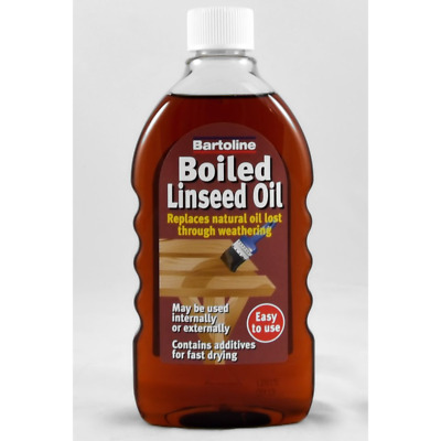 Bartoline Boiled Linseed Oil Revive Wood Furniture Banister Finish Natural 500ml • 6.60£