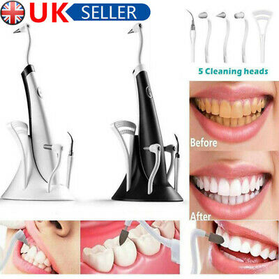£11.92 • Buy Electric Tooth Cleaner Kit Ultrasonic Cleaning Teeth Stain Dental Remover Tool