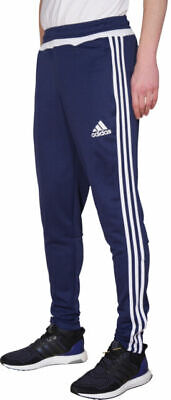 Mens Adidas Slim Fit Track Pants Tracksuit Bottoms Joggers - Navy - Large • 16£