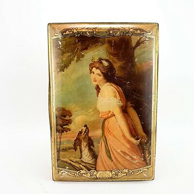 Vintage Jacob & Co Adverting Biscuit Tin Lady Hamiliton Painting • 14.95£