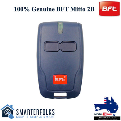 AU19.95 • Buy BFT Genuine Original Gate/ Garage Remote Mitto Type B RCB TX2/TX4/0678 2 Button