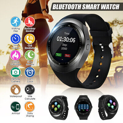 Y1 Bluetooth Smart Watch Phone Fitness Tracker Sleep Monitor For Android IO • 11.57£