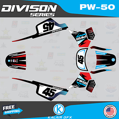 $ CDN48.37 • Buy Graphics Kit For Yamaha PW50 (1990-2021) PW-50 PW 50 Division Series-Blue Red