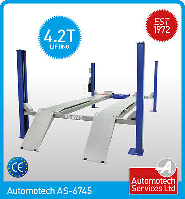 4 POST CAR LIFT / FOR WHEEL ALIGNMENT/ VEHICLE RAMP /  WITH JACK BEAM / 4200Kg • 3,300£
