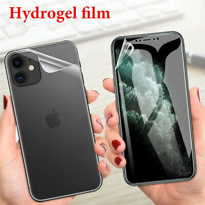AU4.71 • Buy Front+Back Soft Hydrogel Film Screen Protector Cover For IPhone 12 Pro Max Mini