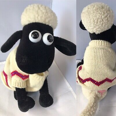 "Shaun The Sheep - Wallace & Gromit - Vintage Soft Toy Plush 10"" • 6.99£"