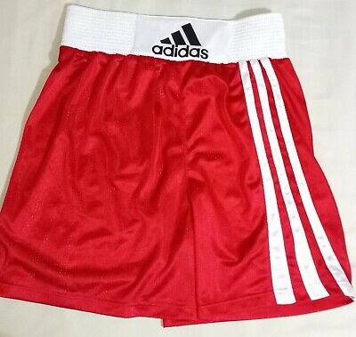 Red/White Adidas Mens Clubline Boxing Shorts *Medium - 30/32*  • 12.50£