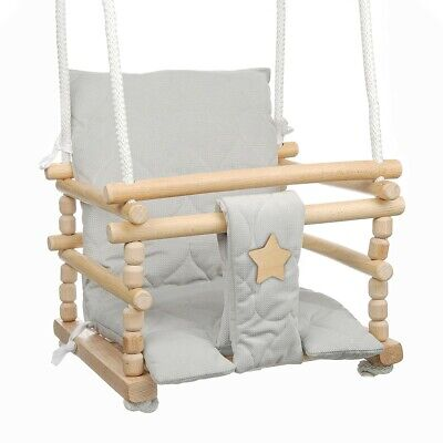 £52.99 • Buy Wooden Cradle Swing Seat Baby Toddler Infant 3 In 1 High Quality