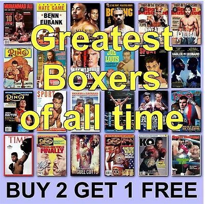 £2.97 • Buy Boxing Posters Boxing Poster Greatest Boxers HD Borderless Printing Tyson Ali