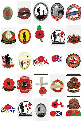 £3.49 • Buy Remembrance Day Flower Lapel Badges/stickers Donation To Help For Heroes
