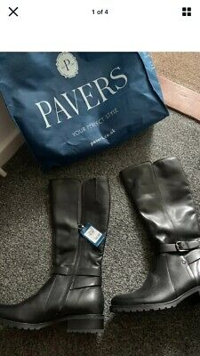 Genuine Pavers Leather Zip Winter Boots Size 8 Women RRP £124.99 • 35£