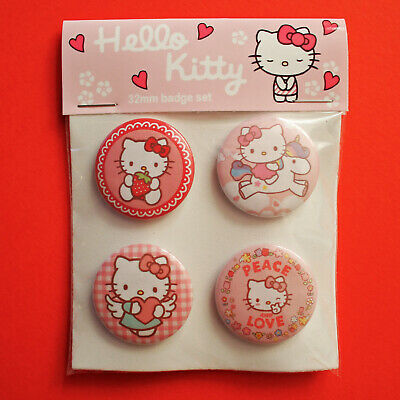 £5.49 • Buy Hello Kitty Badges, Badge Set Of 4x 32mm Metal Pin Back Buttons.