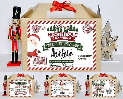 Personalised Christmas Eve Gift Box Xmas Favour Present 2 Sizes With Ribbon • 4.30£
