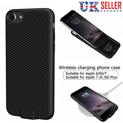 Qi Wireless Charger Charging Receiver Cover Case For IPhone 6 6S 7 / 6 6S 7 Plus • 9.49£