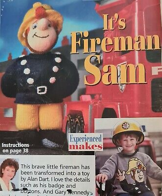 Alan Dart Vintage Toy Knitting Patterns. Fire Man Sam  And Sweater.  • 7£