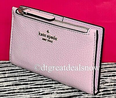 $ CDN63.77 • Buy NWT Kate Spade Jackson Small Slim Bifold Wallet Serendipity Pink Leather