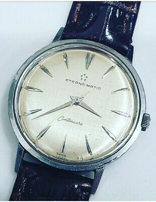 Vintage Eterna Matic Centenaire Cal 1429 Automatic Mens Stainless Steel Watch  • 268.34£