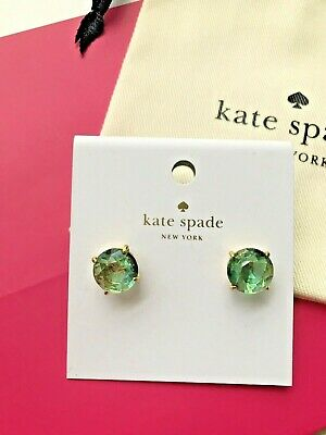 $ CDN30.61 • Buy Auth KATE SPADE NEW YORK Gumdrop Green Turquoise Gold Stud Earrings W/Gift Bags