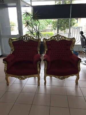 AU500 • Buy Antique Grandfather Chairs X 2