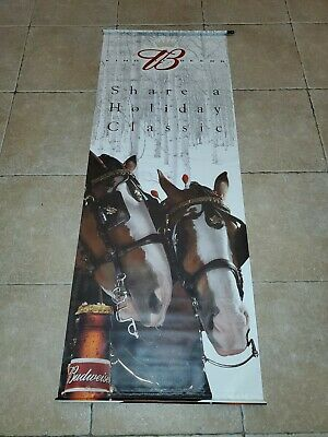 $ CDN72.34 • Buy Rare Vintage Budweiser Clydesdale Beer Wall Banner