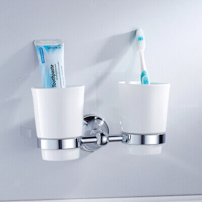 Home   Bathroom   Toothbrush   Holder   Tumbler   With   Cups   Wall - Mounted • 20.61£