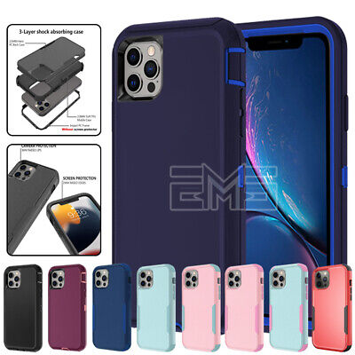 AU5.99 • Buy For IPhone 12 11 Pro Max Mini XR X XS 8 7 Shockproof Clear Heavy Duty Case Cover
