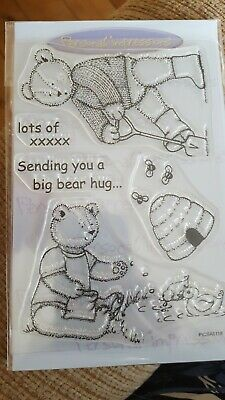 Personal Impressions CLEAR STAMP SET TEDDY BEARS  X 2 Sets • 3£