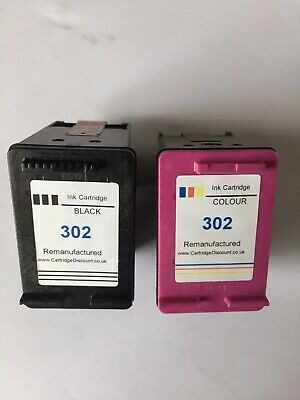 Remanufactured Cartridges HP 302 Black And HP 302 Colour Open Never Used • 8.70£