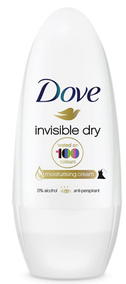 6 X Dove Invisible Dry Anti-Perspirant Deodorant Roll-On, 50ml • 8.99£