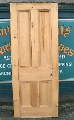 4722 Victorian Four Panel Stripped Pine Door Larger Size • 89£
