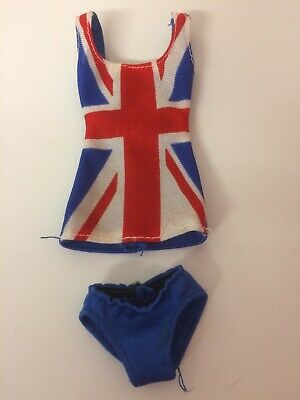 Spice Girls Ginger Spice Dolls Union Jack Dress With Pants/shorts/hot Pants • 11.50£