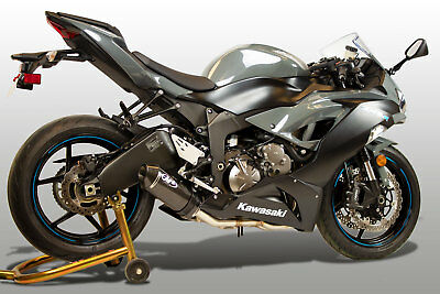 $813 • Buy M4 Exhaust Kawasaki ZX6R 2009 - 2021 Full System W/CARBON Street Slayer Canister