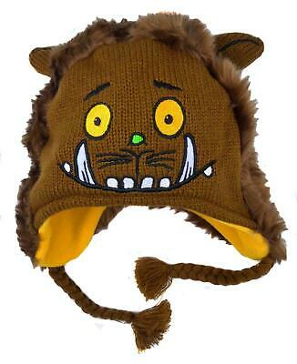 Baby Gruffalo Hat Knitted Face And Furry Back Covers The Ears 1-3 Years • 6.49£