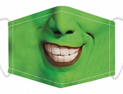 £3.49 • Buy The Mask Jim Carrey Washable Face Mask With Filters Protective Mouth Cover UK